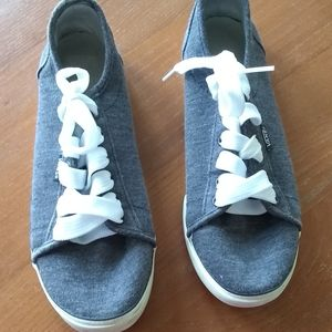 Vans Gray Lace Up Sneakers